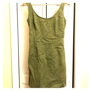Nicole Miller Collection sage green fitted dress